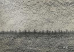 """DZ02 – """"Ohne Titel"""" 40×30 I Bleistift auf Karton (1977)"""