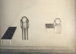 """DZ05 – """"Ohne Titel"""" 50×57 I Bleistift auf Papier (1978)"""