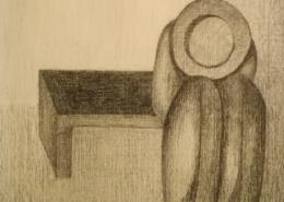 """DZ09 – """"Ohne Titel"""" 10×10 I Bleistift auf Papier (1978)"""