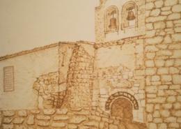 """DZ11 – """"Bergkapelle"""" 19×19 I Filzstift auf Papier (1984)"""