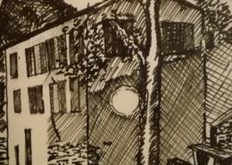 """DZ12 – """"Eremitage Soreole"""" 31×21 I Filzstift auf Papier (1984)"""