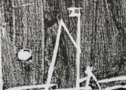 """DZ13 – """"Segelboot"""" 5×6 I Holzschnitt (1989)"""