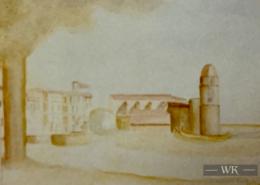 """DZ15 – """"Collioure"""" 24×36 I Wasserfarbe auf Papier (1992)"""