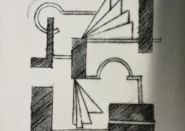 """DZ24 – """"Ohne Titel"""" 10×10 I Radierung (2001)"""