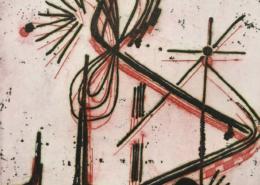 """DZ25 – """"Ohne Titel"""" 10×10 I Farbradierung (2002)"""