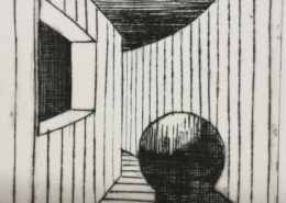 """DZ29 – """"Ohne Titel"""" 15×15 I Kupferstich (2002)"""