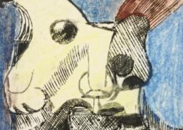 """DZ31 – """"Ohne Titel"""" 15×15 I Farbradierung (2003)"""