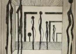"""DZ33 – """"Ohne Titel"""" 15×15 I Kupferstich (2003)"""