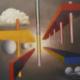 Raumbild 04 - 90x70cm I Öl auf Leinwand (1994)