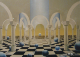 Raumbild 05 - 90x70cm I Öl auf Leinwand (1996)