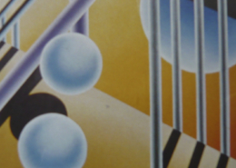 Raumbild 13 - 100x90cm I Öl auf Leinwand (2001)