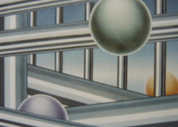 Raumbild 15 - 100x90cm I Öl auf Leinwand (2002)