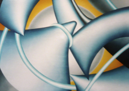 Raumbild 18 - 100x100cm I Öl auf Leinwand (2005)