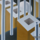 Raumbild 25 - 80x70cm I Öl auf Leinwand (2012)