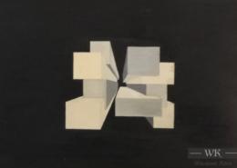 """W02 – """"Ohne Titel"""" 30x20cm I Öl auf Papier (1976)"""