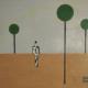 """W03 – """"Ohne Titel"""" 40x30cm I Öl auf Papier (1977)"""