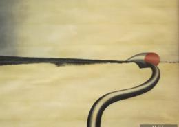 """W05 – """"Ohne Titel"""" 56x43cm I Öl auf Papier (1978)"""