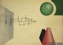 """W07 – """"Ohne Titel"""" 53x45cm I Öl auf Papier (1978)"""