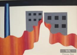 """W08 – """"Ohne Titel"""" 37x27cm I Öl auf Papier (1978)"""