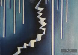 """W09 – """"Ohne Titel"""" 30x40cm I Öl auf Leinwand (1978)"""