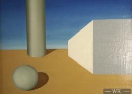 """W13 – """"Ohne Titel"""" 50x40cm I Öl auf Leinwand (1981)"""