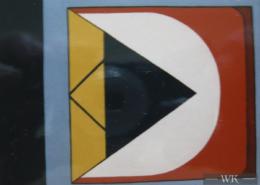"""W19 – """"Blaues Dreieck"""" 40x50cm I Öl auf Karton (1991)"""