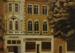 """W20 – """"Stammheimer Str."""" 24x36cm I Öl auf Pappe (1991)"""