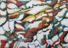 "W21 – ""Pyrenaen"" 60x50cm I Acryl auf Leinwand (1992)"