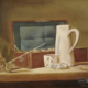 "W23 – ""Hommage an Chardin"" 40×30 I Öl auf Leinwand (1995)"