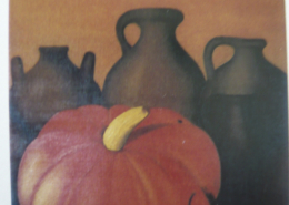 """W24 – """"Roter Kürbis"""" 70×90 I Öl auf Leinwand (1995)"""