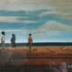 "W27 – ""Strandleben"" 40×50 I Öl auf Leinwand (1998)"
