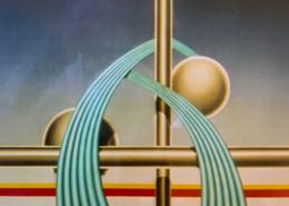 """W33 – """"Figurine 1"""" 100×130 I Öl auf Leinwand (2004)"""