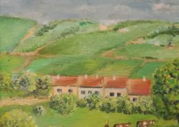 "W41 – ""Landschaft"" 16×16 I Öl auf Leinwand (2013)"