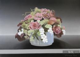 """W49 – """"Stilleben mit Blumen 1"""" 70×50 I Öl auf Leinwand (2018)"""