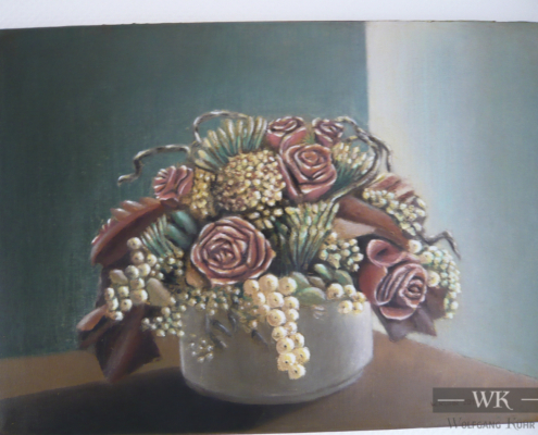 """W50 – """"Stilleben mit Blumen 2"""" 70×50 I Öl auf Leinwand (2019)"""